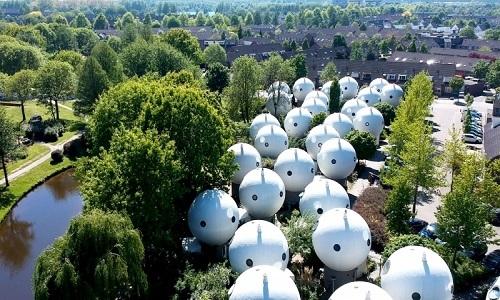 Ngôi nhà hình cầu như của người ngoài hành tinh