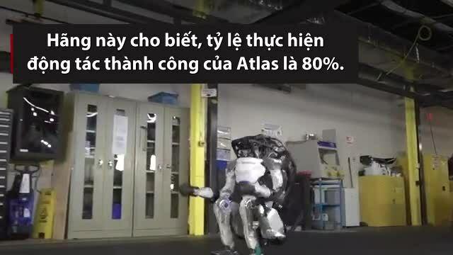Robot hình người thể hiện kỹ năng nhào lộn