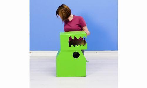 Cách biến thùng bìa carton thành đồ chơi cho trẻ