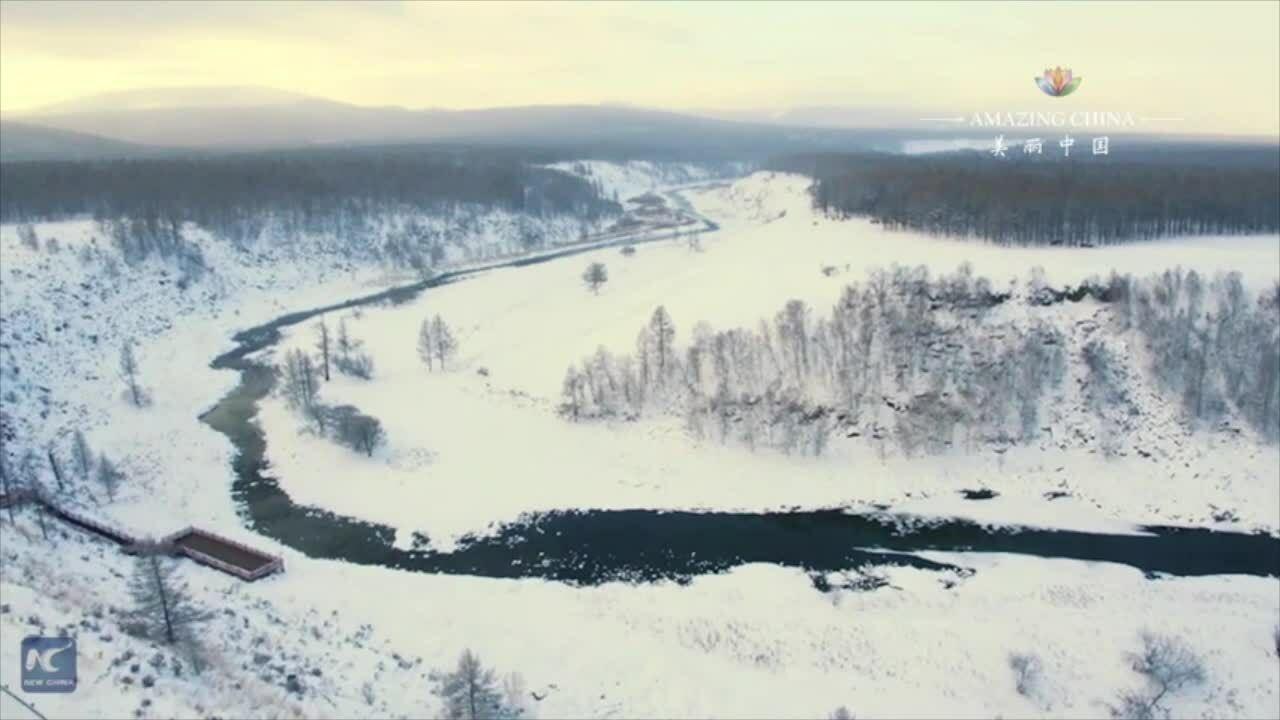 Dòng sông không đóng băng dưới tiết trời -40 độ