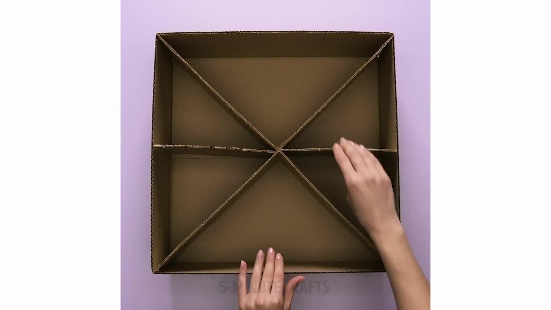Tái chế hộp carton thành vật dụng trong nhà