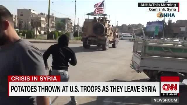 Người Kurd tức giận ném khoai tây vào quân đội Mỹ
