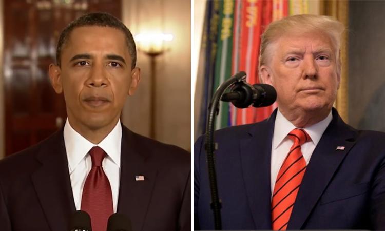 Khác biệt trong thông báo của Trump và Obama