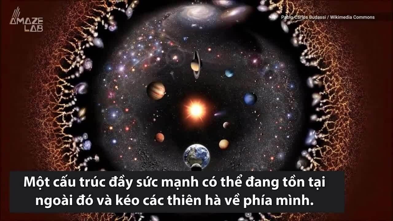 Dòng chảy tối bí ẩn nằm ngoài vũ trụ