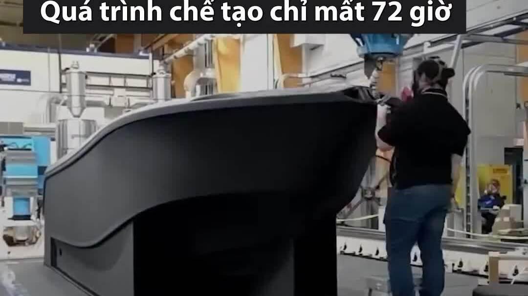 Thuyền in 3D lớn nhất thế giới