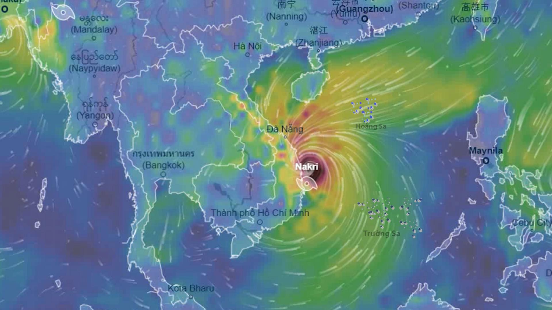 Bão Nakri dự kiến đổ bộ vào Bình Định – Ninh Thuận