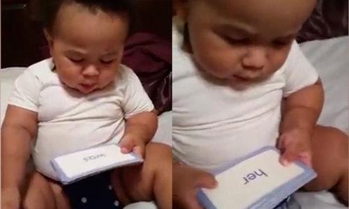 Bé trai 19 tháng tuổi đọc vanh vách
