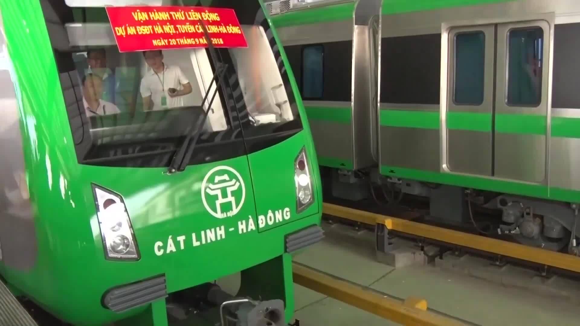 Vận hành đường sắt Cát Linh - Hà Đông tháng 12/12019