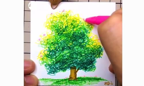 Cách vẽ cây sáng tạo ít người biết