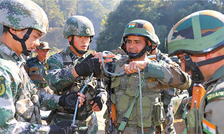 Ấn Độ và Trung Quốc tập trận chung