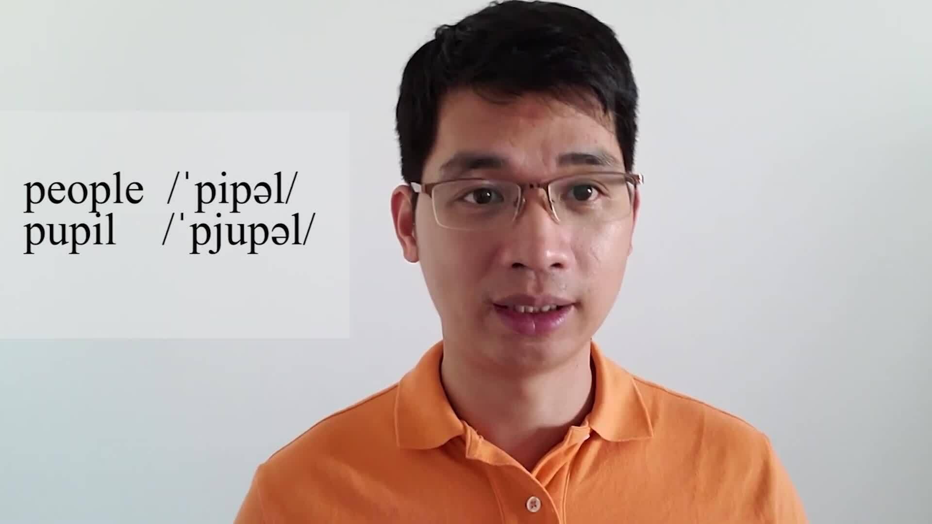 Phân biệt cách phát âm 'people' và 'pupil'