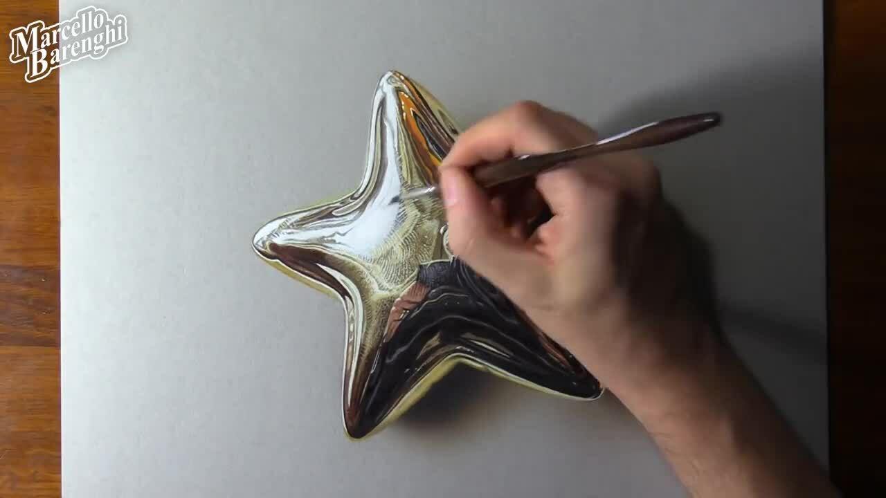 Vẽ ngôi sao 3D