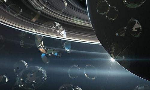 Mưa kim cương trên sao Thổ