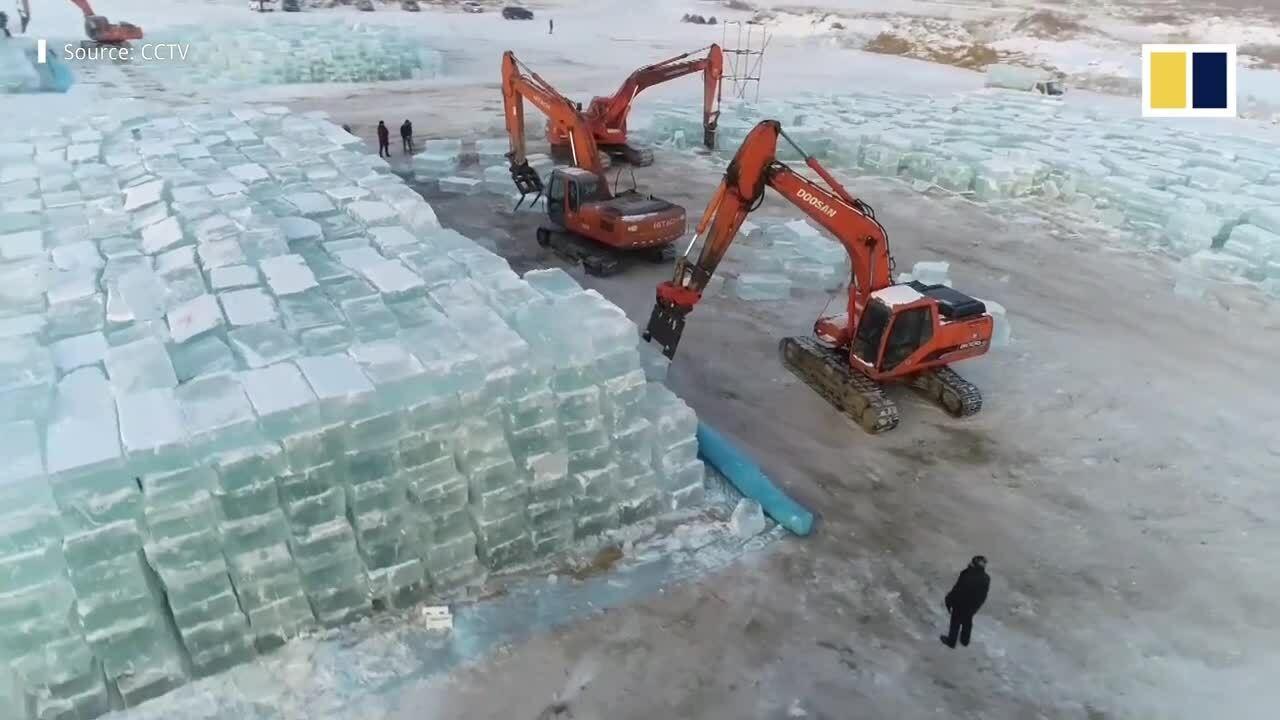 Trung Quốc dùng 120.000 m3 băng cho lễ hội