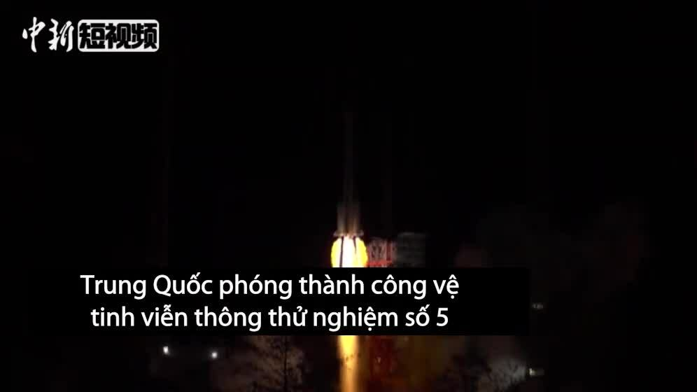 Trung Quốc phóng thành công vệ tinh viễn thông