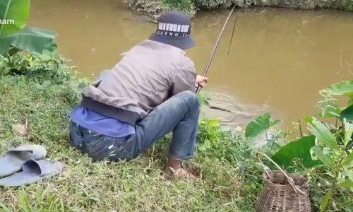'ngã ngửa' khi thấy con cá kéo gãy cần câu