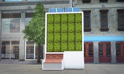 London lắp cây nhân tạo hấp thụ ô nhiễm