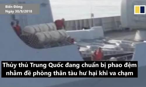 Mỹ công bố thêm video chạm mặt tàu chiến Trung Quốc