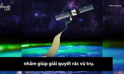 Dải băng giúp kéo rác vũ trụ xuống khỏi quỹ đạo