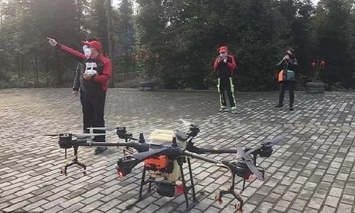 Trung Quốc dùng drone khử trùng virus nCoV