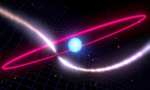 Ngôi sao chết làm cong không thời gian trong vũ trụ