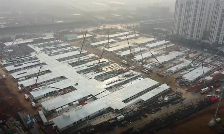 12 ngày Trung Quốc xây bệnh viện dã chiến
