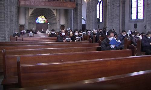 Nhà thờ Hàn Quốc vơi tín đồ giữa dịch Covid-19