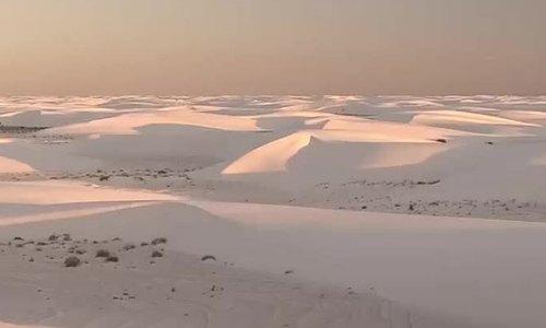 Cánh đồng cát thạch cao lớn nhất thế giới