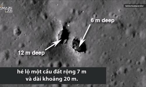 Cây cầu dài 20 m trên Mặt Trăng