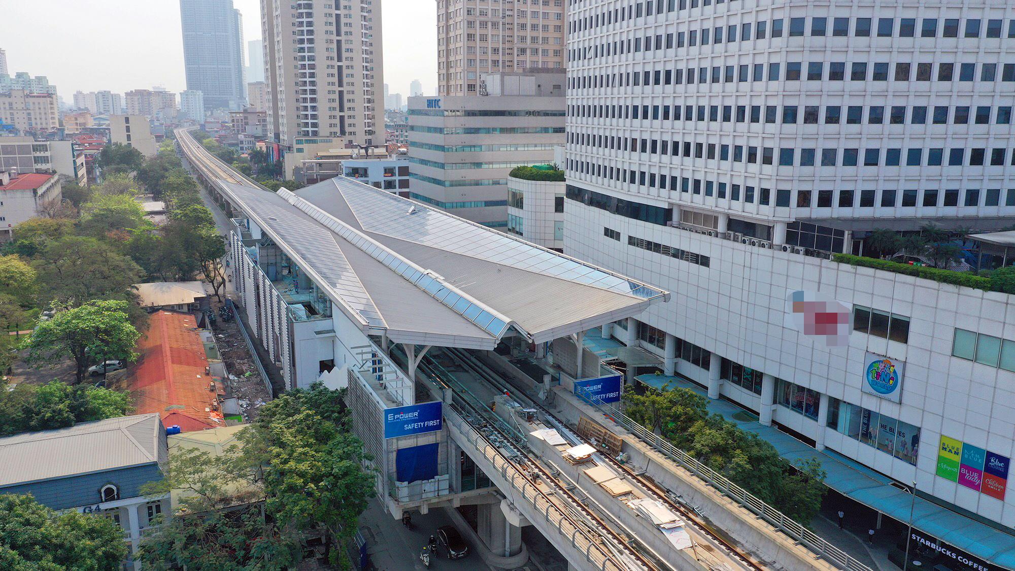 Tuyến Metro Nhổn-Ga Hà Nội nhìn từ trên cao