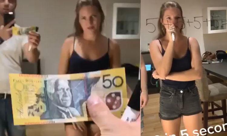 Giúp người đẹp lấy 50 đô la Úc
