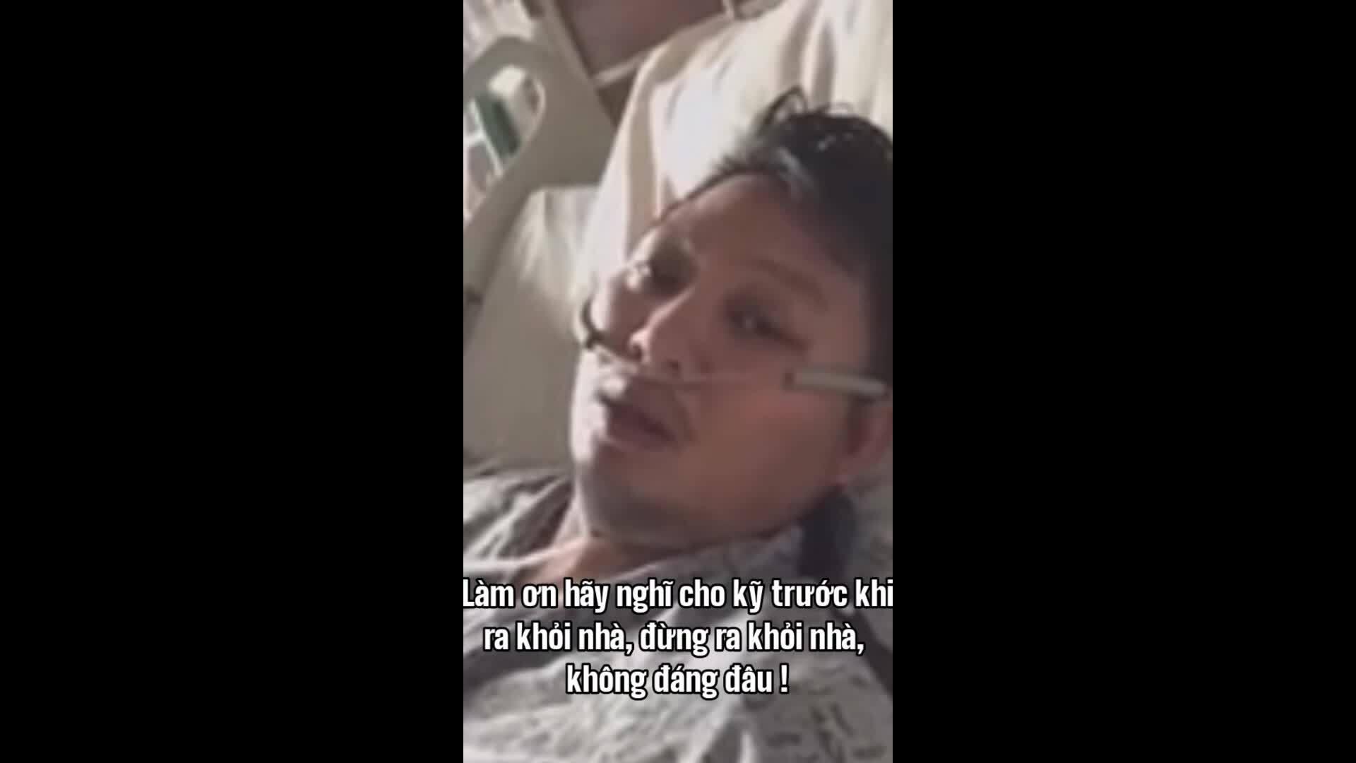Người gốc Việtmắc Covid-19 cảnh báo cộng đồng từ trên giường bệnh