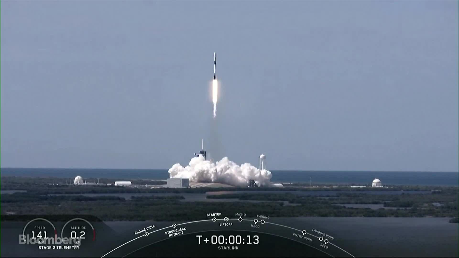SpaceX phóng lô 60 vệ tinh Internet thứ 7