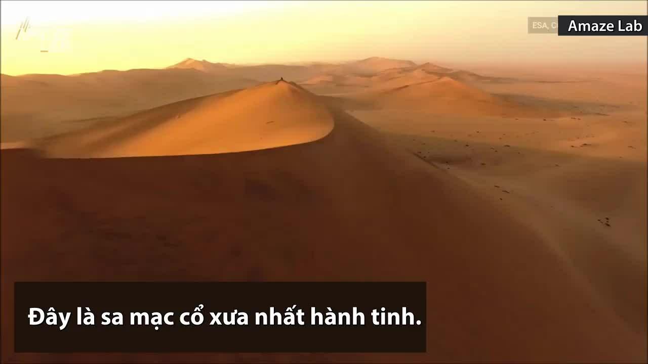 Sa mạc cổ xưa nhất hành tinh nhìn từ không gian