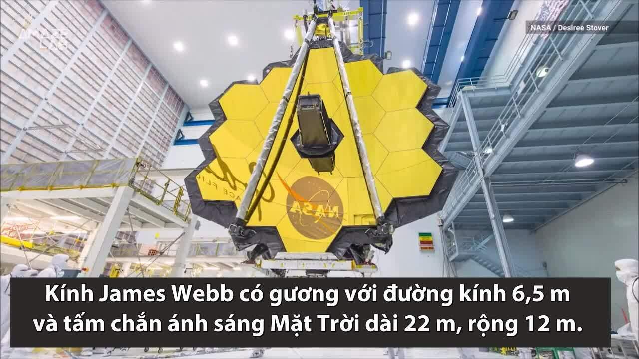 NASA gấp gọn kính viễn vọng không gianlớn nhất lịch sử