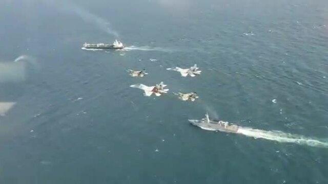 Tiêm kích và chiến hạm Venezuela hộ tống tàu dầu Forest của Iran
