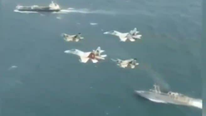 Venezuela điều chiến hạm, tiêm kích hộ tống tàu dầu Forest của Iran