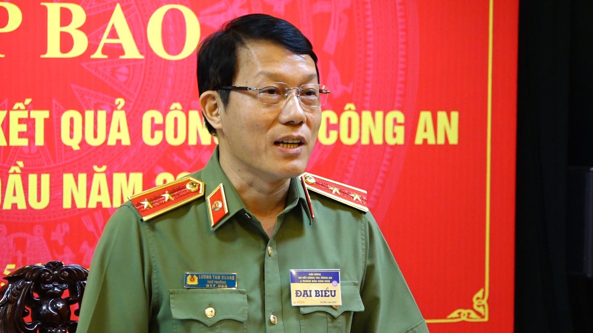 Thứ trưởng Lương Tam Quang thông tin về vụ án Nhật Cường và phương tiện tuần tra của công an