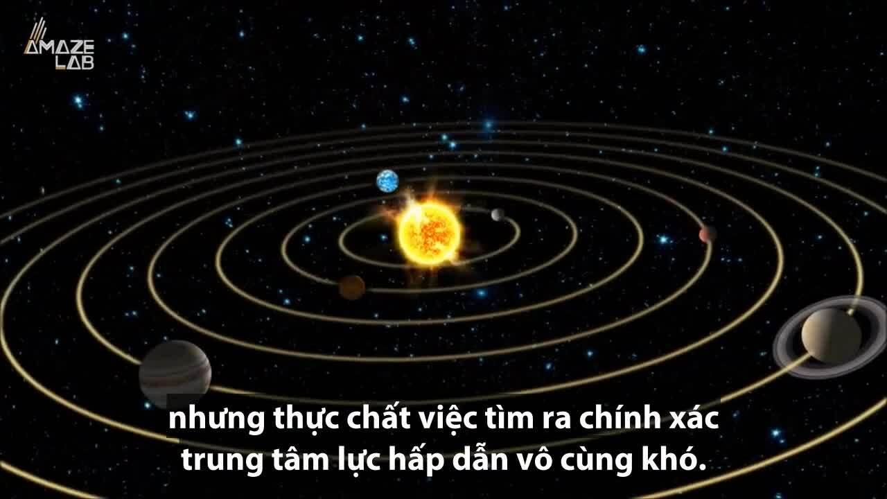 Xác định trung tâm của hệ Mặt Trời