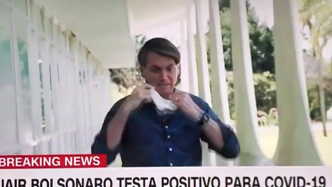 Nhiễm nCoV, Tổng thống Brazil cởi khẩu trang 'khoe' vẫn ổn