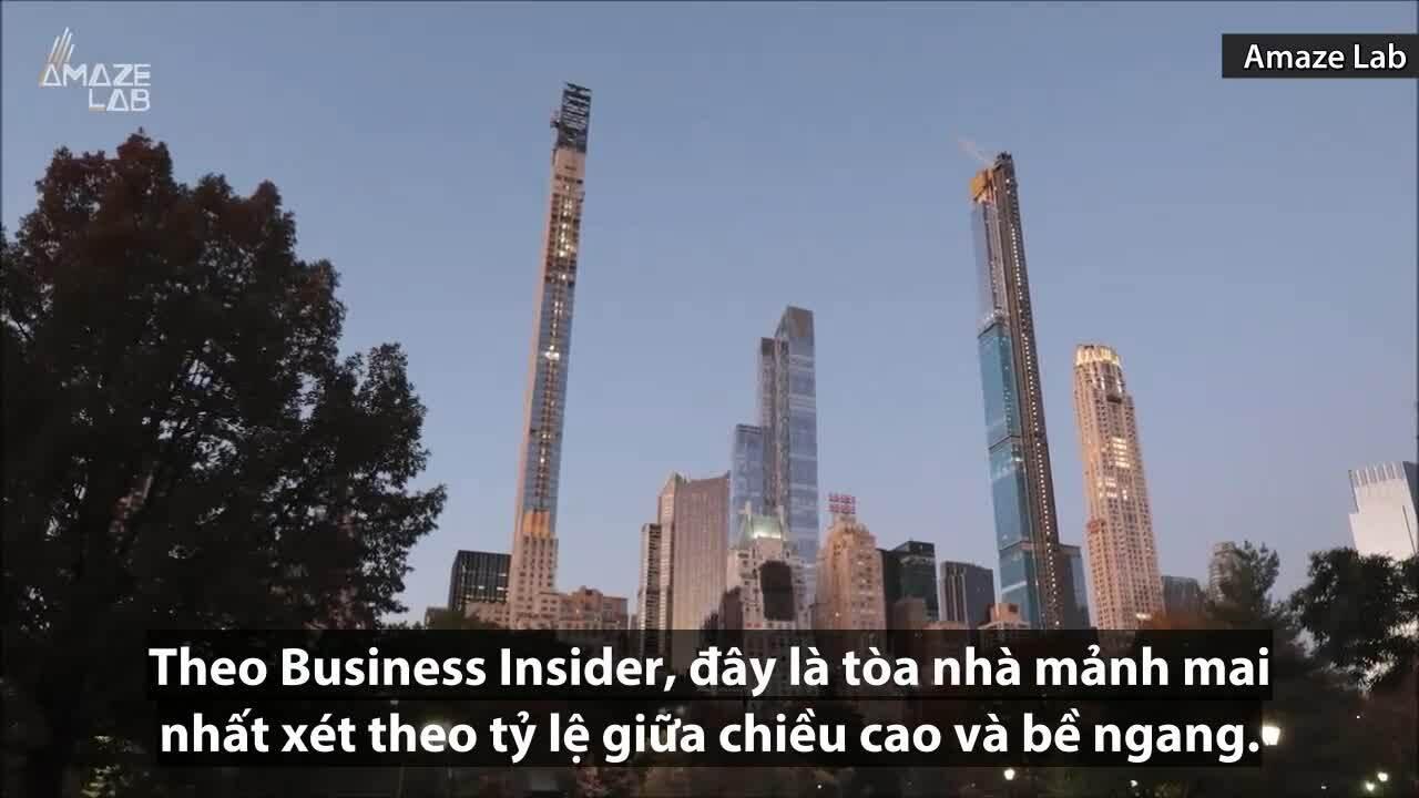 Tòa nhà 'gầy' nhất thế giới