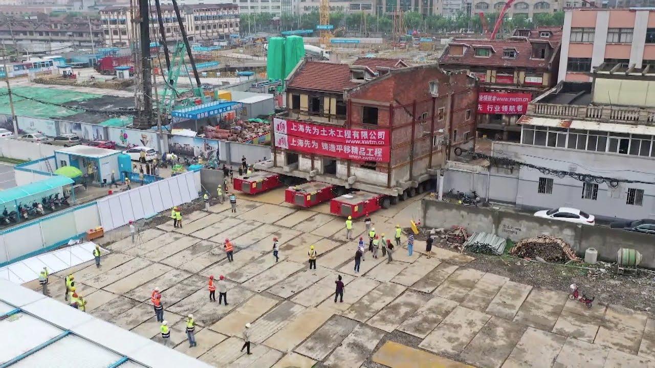 Trung Quốc di dời dãy biệt thự 90 năm tuổi