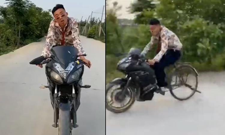 Anh chàng đi môtô 'lừa cả thế giới'