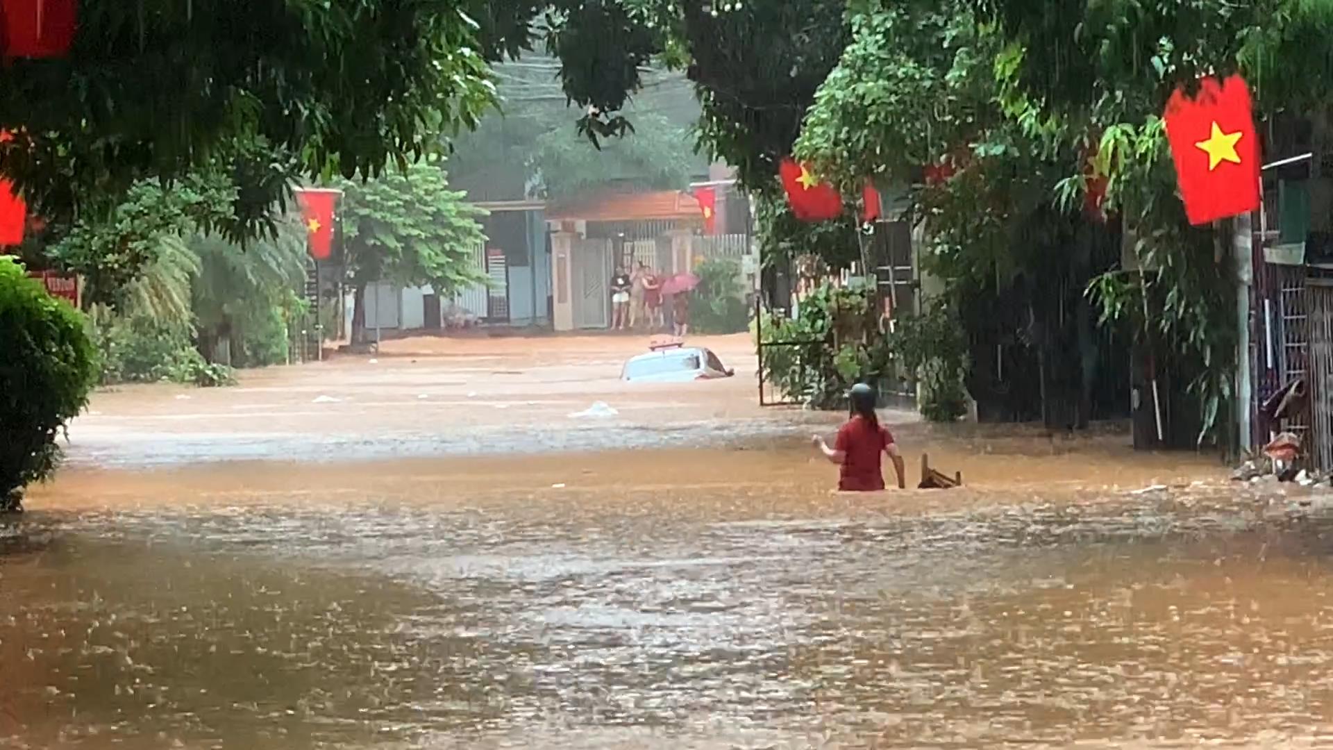 TP Hà Giang ngập cục bộ