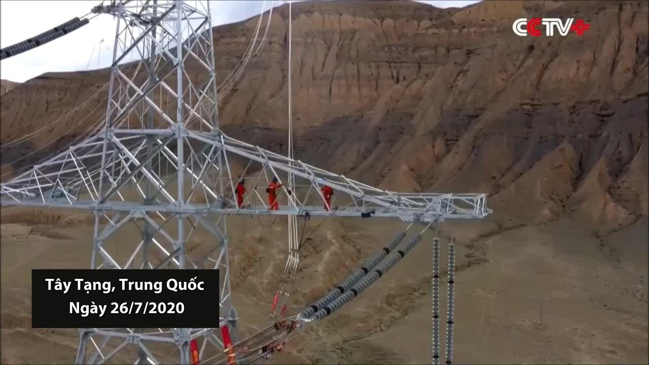 Trung Quốc xây xong lưới điện ở độ cao lớn nhất thế giới