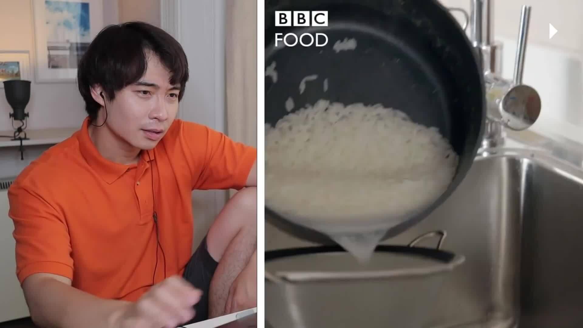 Youtuber bình luận video dạy rửa cơm