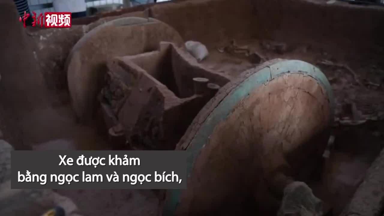 Khai quật cỗ xe ngựa đầu tiên 2.800 năm trước