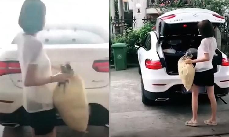Người đẹp đi đổ rác bằng Mercedes