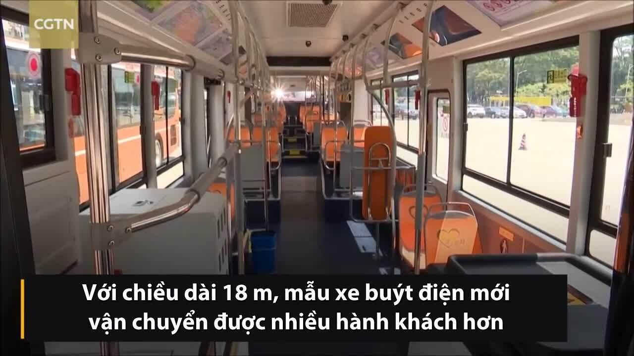 Trung Quốc vận hành xe buýt điện dài 18 m