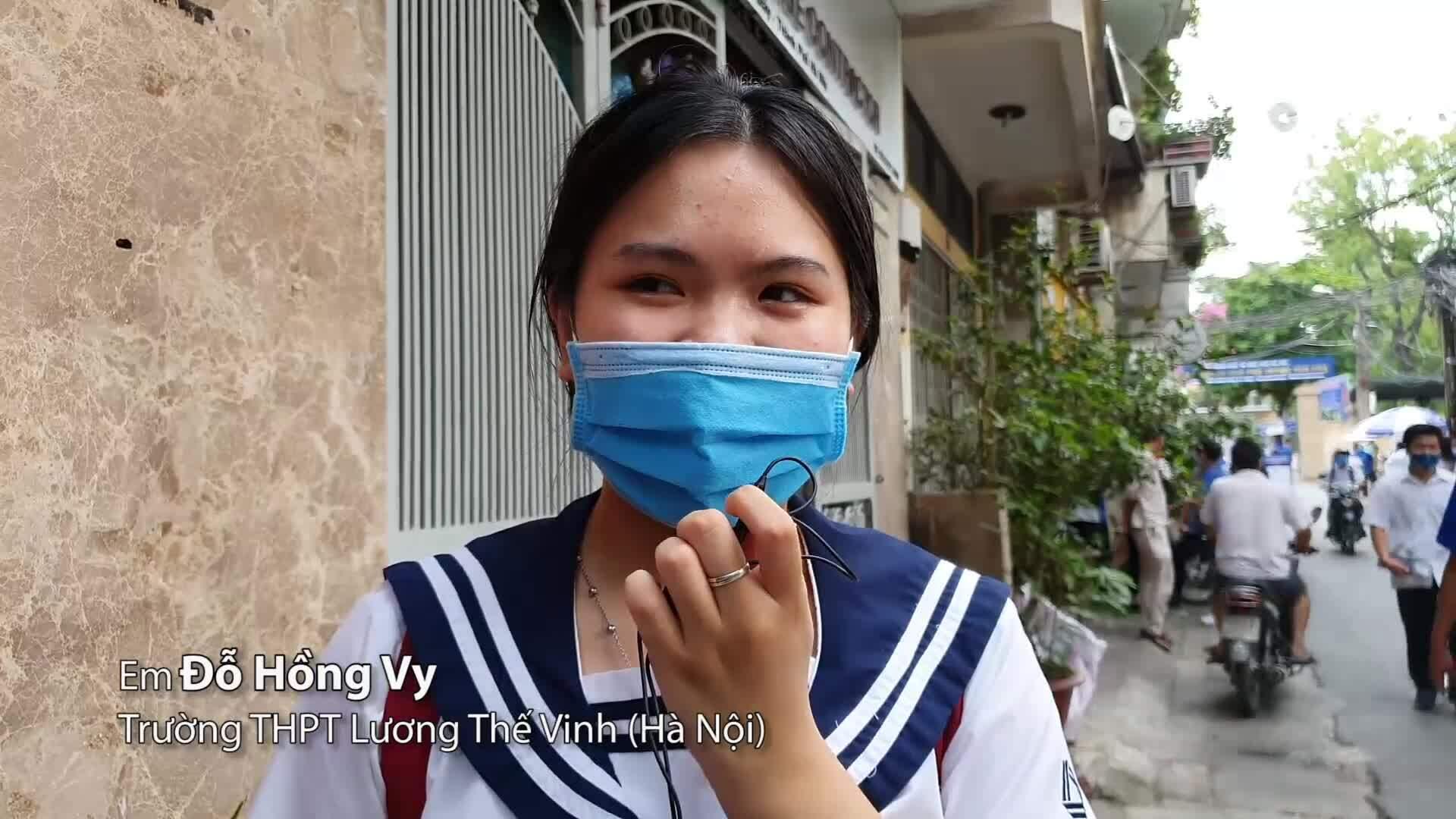 Video thí sinh đánh giá cả kỳ thi tốt nghiệp THPT